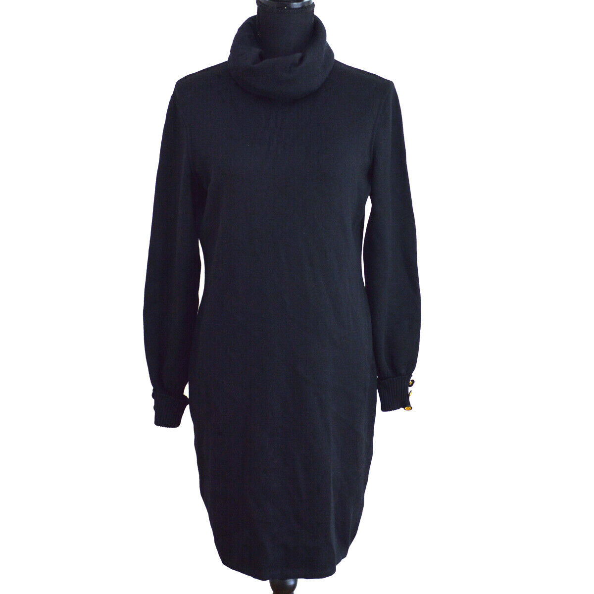 CHANEL CC Button Turtleneck Long Sleeve Knit One P