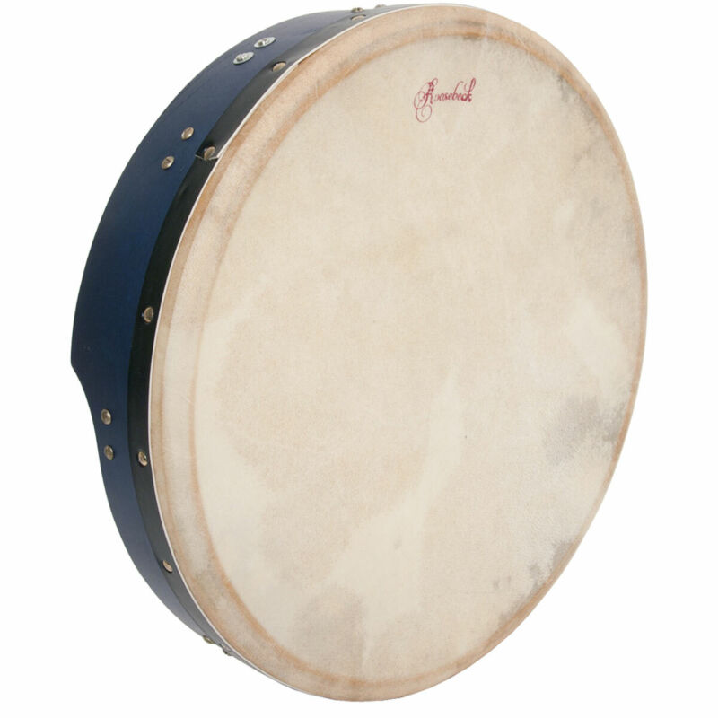 Roosebeck Tunable Mulberry Bodhran T-Bar 16-by-3.5-Inch - Blue