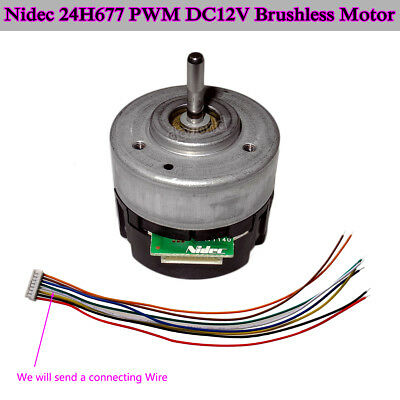 Bldc Nidec 24h677 Pwm Dc12v Brushless Motor Cwccw 2 Channel Pulse Signal Output