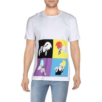 Just Cavalli Mens White Cotton Graphic Short Sleeves Casual Shirt XL BHFO 7942