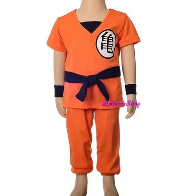 Dragon Ball Z Son Goku Fancy Costume Outfit Halloween Party Kid Size 2-8 FC046 - Dragon Ball Z Halloween Costumes Goku