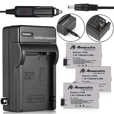 LP-E8 Battery Pack + Charger for Canon Rebel T2i T3i T4i T5i Kiss X5 EOS 550D 20