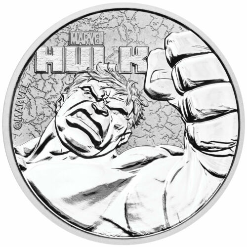 2019 Tuvalu Hulk 1 oz Silver Marvel Series $1 Gem BU Coin SKU58800