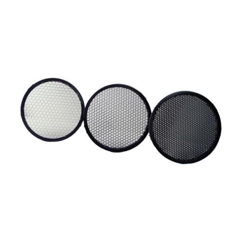 Quantum QF77 Honeycomb Grid Set (10°, 20°, 30°) for Qflash & Qflash Trio Flashes