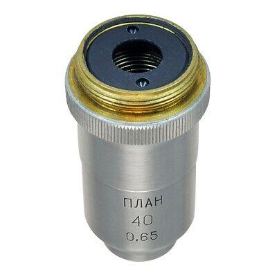 Lomo Microscope Objective - Planachromat 40x0.65 Polarized