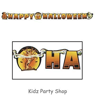 Halloween Party - 6ft Jointed Streamer Banner  - Free Post in Uk](Post Halloween Party)