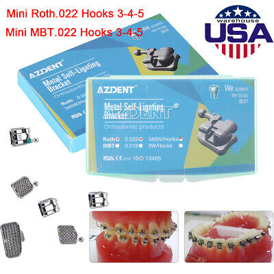 Dental Passive Self Ligating Brackets Braces 3 4 5 Buccal Tubesrothmbt 0.022