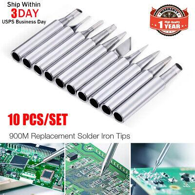 10pcs Set Solder Screwdriver Iron Tip 900m-t For Hakko Soldering Station Tool