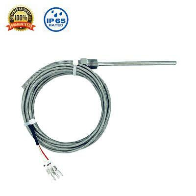 Rtd Pt100 Temperature Sensor Probe 100mm Length 14 Npt Threads 2m Cable