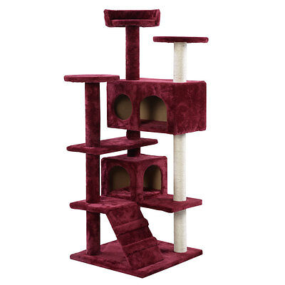 Cat Tree Tower Condo Furniture Scratch Post Kitty Pet Hou...