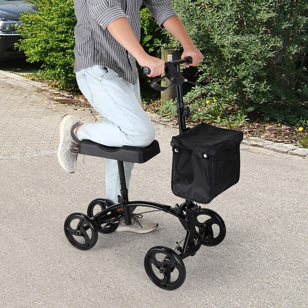 Adjustable Height  Heavy Duty Knee Walker Scooter w/Soft Pad