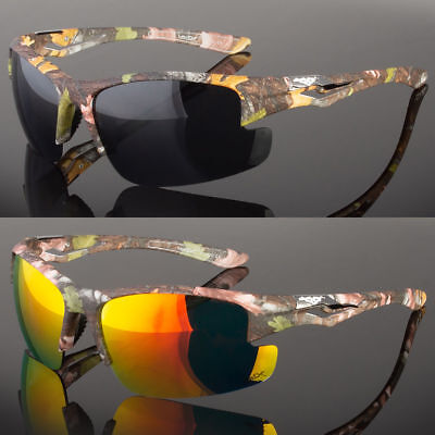 Camouflage Sunglasses (Half Frame Men's Camouflage Sport Sunglasses Hunting Fishing Outdoor UV400)