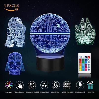 RGB 3D Illusion LED Lamp Star Wars Desk Lantern Night light Kids Cartoon Gifts](Stars Wars Gifts)