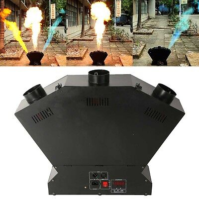 300W DMX 3 Head Flame Thrower Stage Show Effect Band DJ Fire Projector Machine