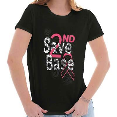 Save Based 2nd Pink Ribbon Breast Cancer Awareness BCA Womens Tee T Shirts