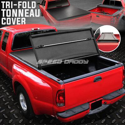 FOR 12-17 COLORADO/CANYON CREW CAB 5.2' TRI-FOLD SOFT TRUNK BED TONNEAU COVER