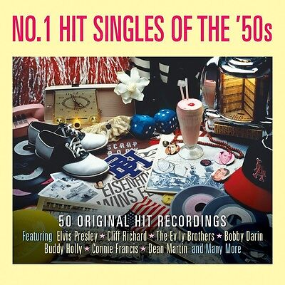 No  1 Hit Singles Of The 50S Various Artists Best Of 50 Songs Music New 2 Cd