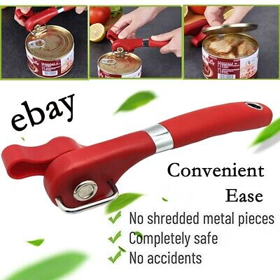 Manual Tin Can Opener Heavy Duty Hand Best Safety Smooth Edge Cut Tin Opener