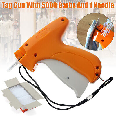 Clothing Garment Price Label Tagging Tag Gun Machine 5000 Barbs Pins 1 Needle