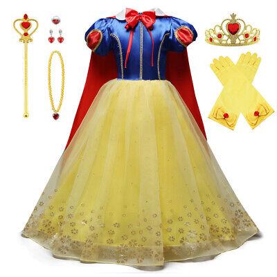 Schneewittchen Kleid Kinder Mädchen Prinzessin Kleid Cosplay Kostüm - Schneewittchen Mädchen Kostüm