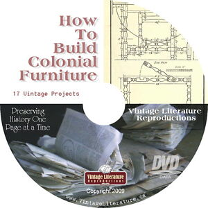 How to build colonial furniture 1921 blueprints and plans for Colonial furniture plans