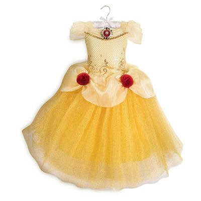 Disney Store Princess Belle Costume Fancy Dress Halloween Beauty and the Beast