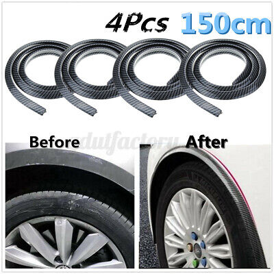 4pcs Carbon Fender Flare Extension Wheel Eyebrow Arch Trim Protector Lip  /