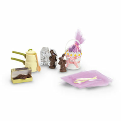 NIB~American Girl Kit's Homemade Sweets~ Easter Chocolate Candy Bunny Basket - Homemade Easter Candy