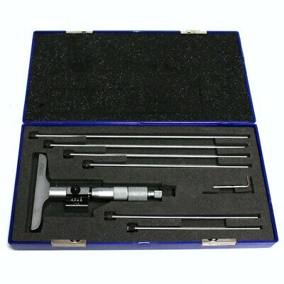 """Fowler Depth Micrometer 0-6/"""" Digit Counter with 6 Rods"""