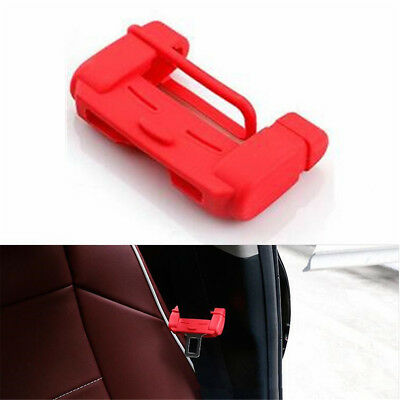 1pc Universal Car Auto Seat Belt Buckle Silicone Cover Clip Anti-Scratch Red Seat Belt Buckle Cover