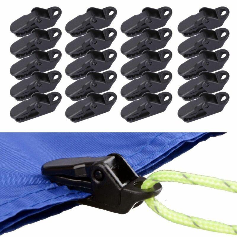 30Pcs Tarp Clips Locking Awning Clamp Snap Hangers Survival Emergency Heavy Duty