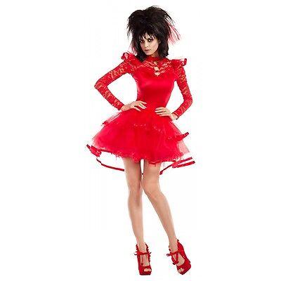 Lydia Deetz Costume Adult Beetlejuice Halloween Fancy Dress (Lydia Beetlejuice Costumes Halloween)