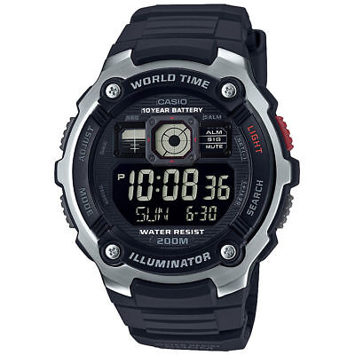 Casio AE2000W-1BV, Chronograph Watch, 5 Alarms, 200 Meter WR, 10 Year Battery