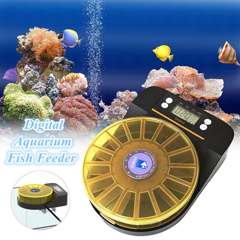 Automatic Aquarium Food Feeding Digital LCD Timer Electronic Fish Feeder Timer !