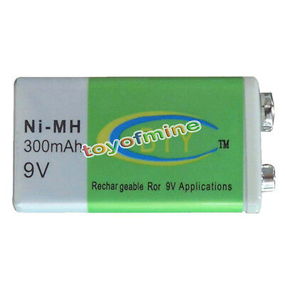9V Volt 300mAh Ni-MH Rechargeable Recharge Battery PP3 #9600 NIMH