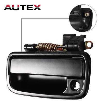 Black Outside Outer Front Left Driver Side Door Handle For 1995 04 Toyota Tacoma