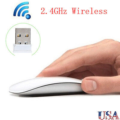 2 4Ghz Usb Wireless Optical Mouse Mice For Apple Mac Macbook Pro Air Pc White