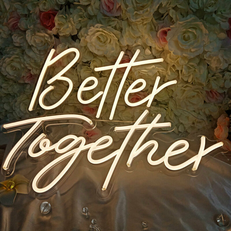 Better Together Neon Sign Neon Words Neon Lamps Home Wall Wedding Party Decor