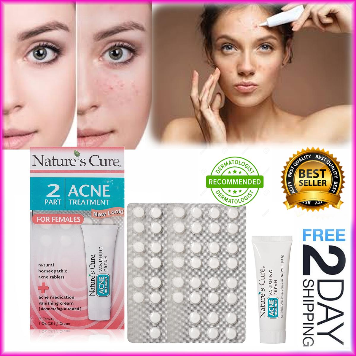 Tratamiento De Mujeres Para Quitar El Acne Combinacion Potente Crema Y Pastillas