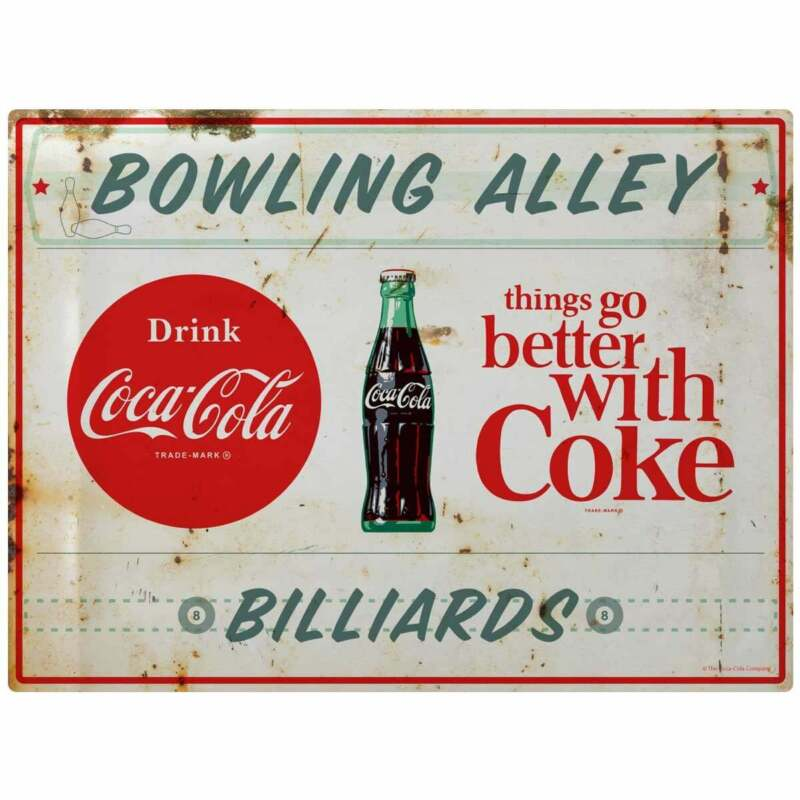 Coca-Cola Bowling & Billiards TGBWC Decal Distressed Peel & Stick Wall Graphic