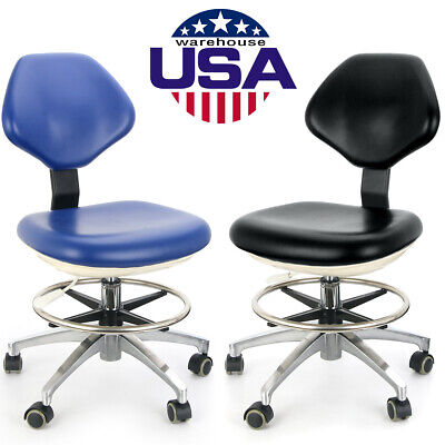 Dental Doctor Assistant Stool Pu Leather Adjustable Height Mobile Dentist Chair