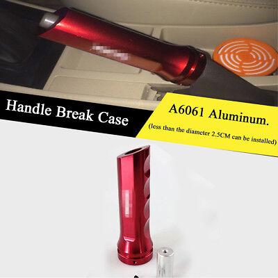 Universal Car Aluminum Hand Brake Handle Break Protect Cover Red Boot Case