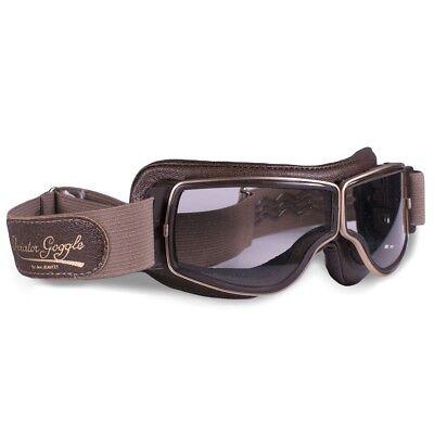 Indoport Aviator-Brille T2 mit Goldrand, braun, mit klaren Gläsern