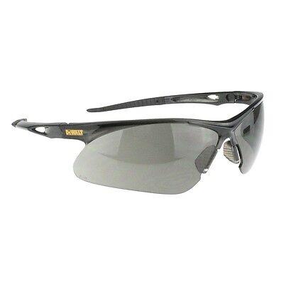 Dewalt Recip Safety Glasses With Smoke Lens Black Frame