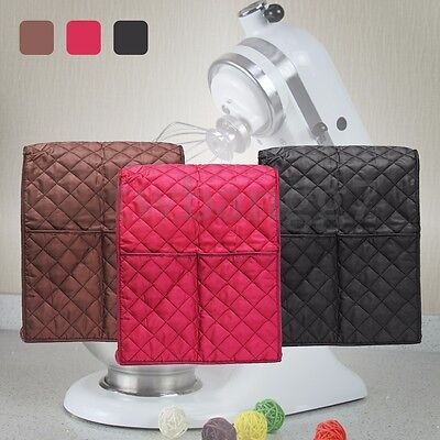 3 Color Cloth Quilted Pocket Blender Mixer Cover + Organizer Bag For Kitchenaid