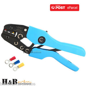 Pro 0.5-6 mm² Yellow Blue Red Insulated Terminals Crimper Crimping Pliers T0044