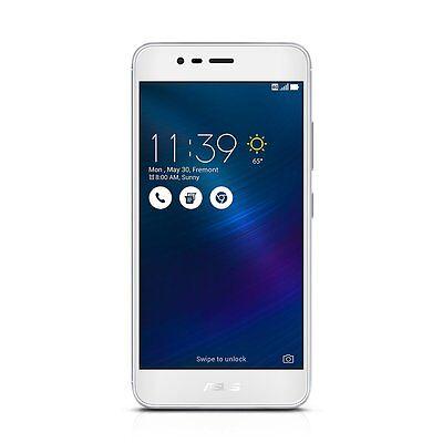 """Asus ZenFone 3 Max 16GB Unlocked Smartphone 5.2"""" 2GB 4G LTE Glacier Silver NEW"""