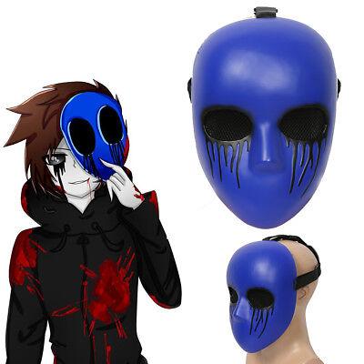 Creepypasta Mask Eyeless Jack Cosplay Purple Resin Mask Halloween Party Adult