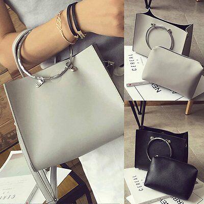 Ring Hobo Handbag Purse Bag - Women Handbag Ring Shoulder Bags Tote Purse Leather Messenger Hobo Bag 2PCS/set