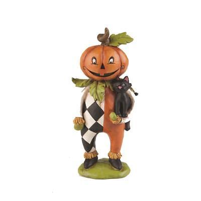 Gallerie Ii Halloween (Kitty Hallow Pumpkin Head w Black Cat Halloween - Gallerie II -)